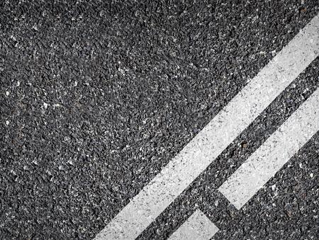Asphalt Road Texture With WhiteStrip