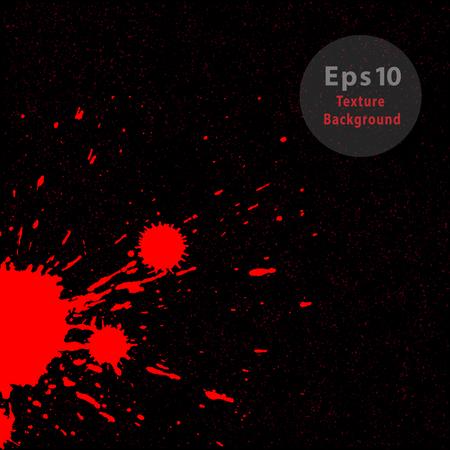 Red Splash on black Vector Background Imagens