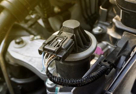 車自動車電子 EGR バルブのクローズ アップ