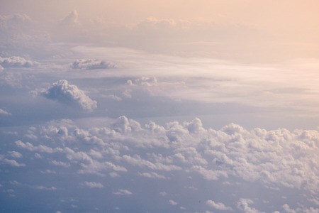 Beautiful Cloudy Sky from airplane