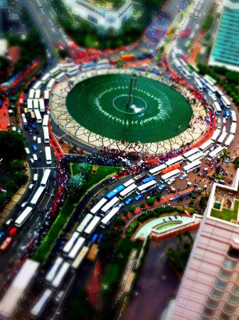 worse: Labour protest has paralysed Jakarta City where thousand of vehicles get stucked in the middle of the road