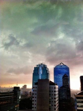 bri: Sunset and rainy atmosphere Stock Photo