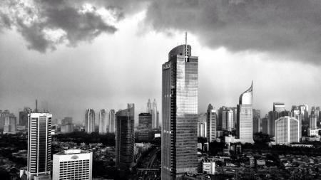 chrome: Jakarta City  Stock Photo