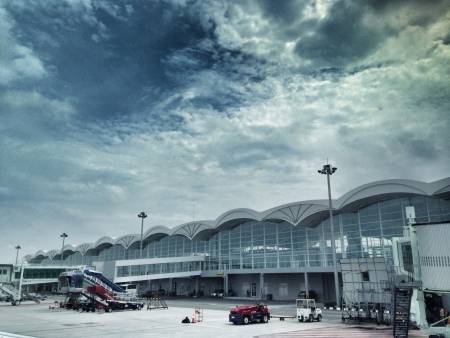 Newly opened Kuala Namu Airport in Medan Indonesia