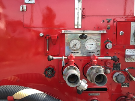 the case before: A voluntary fire engine on standby mode before attending emergency case