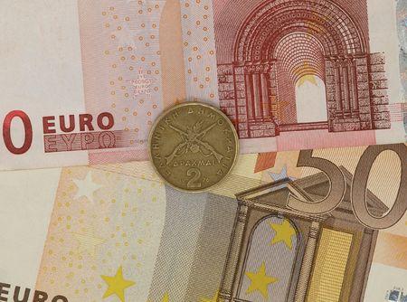 monetary: Greek monetary unit drachma against the Euro.