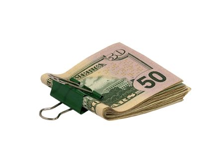 pack of dollars: Pack dollars on a white background.Isolated.