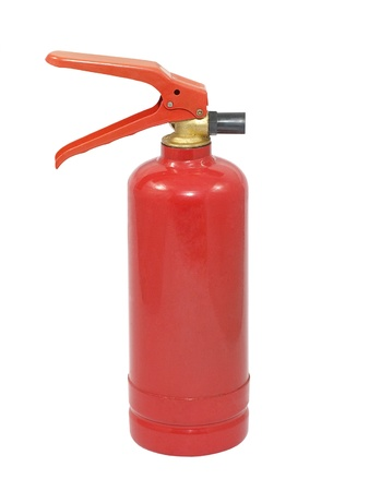 Fire extinguisher isolated on a white background. photo
