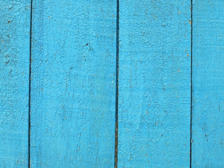 Old blue wooden fence texture pattern. photo