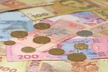 Ukrainian money hryvnia suitable as background.