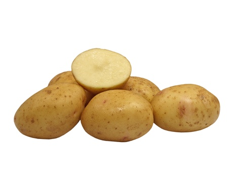 Potatoes isolated on a white background.