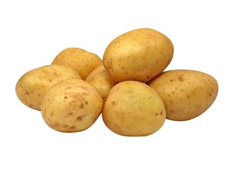 papas: Patatas aisladas sobre fondo blanco. Foto de archivo