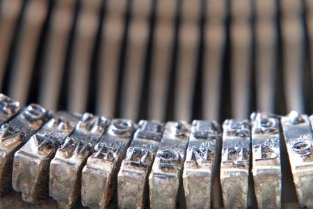 Symbols of old typewriter taken closeup. Stock Photo - 12529261