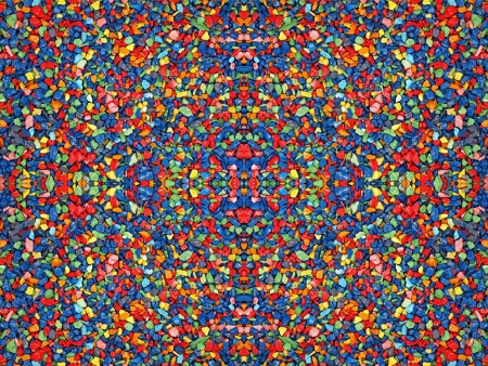Multicolored stones suitable as abstract kaleidoscope background. photo