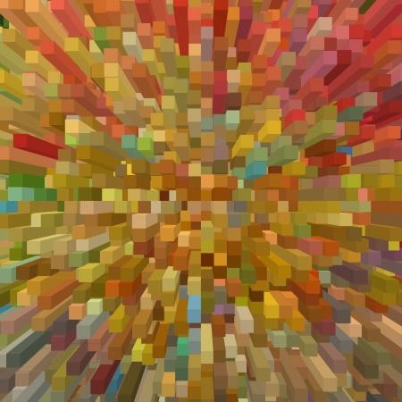 Multicolored square shape geometric background. Digitally generated image. Stock Photo - 21933722