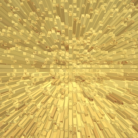 digitally generated image: Golden abstract square shape geometric background  Digitally generated image