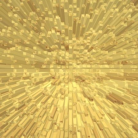 forme carre: Image Golden abstrait forme carr�e fond g�om�trique g�n�r� num�rique