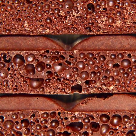 porous: Porous chocolate pieces taken closeup. Stock Photo
