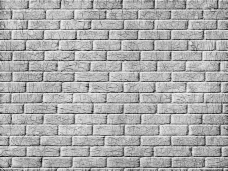 Monochrome brick wall background  Digitally generated image  Stock Photo - 23445090