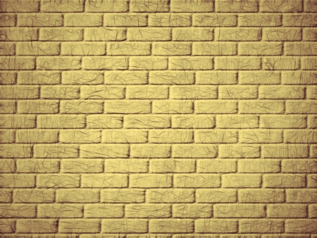 Yellow brick wall background  Digitally generated image  Stock Photo - 23445093