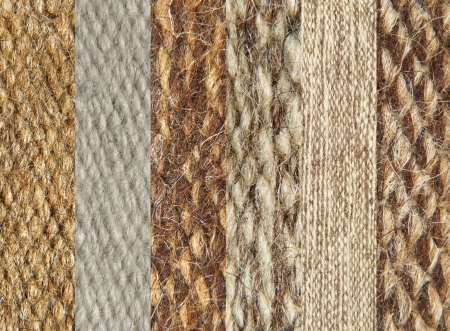 Simples of camel wool fabric texture pattern collage as background  photo