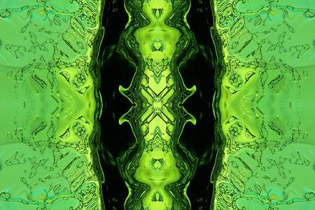 liquid x: Green stylized liquid abstract .Digitally generated image.
