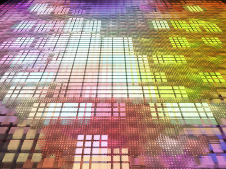 digitally generated image: Multicolored abstract matrix .Digitally generated image. Stock Photo