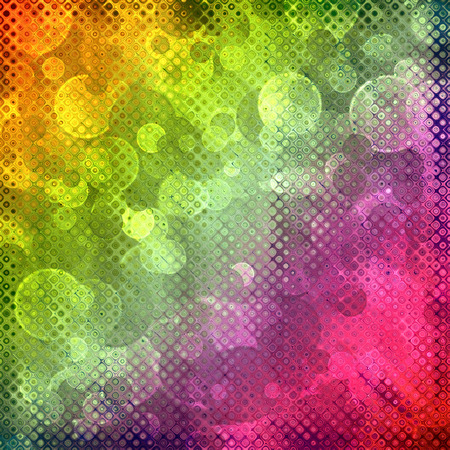 Multicolored fairy bokeh abstract background.Digitally generated image. photo
