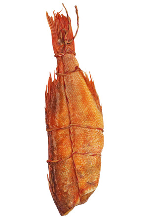 perch dried: Smoked sea perch isolated on white background