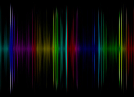 Multicolored sound equalizer display as abstract  background.Digitally generated image. photo