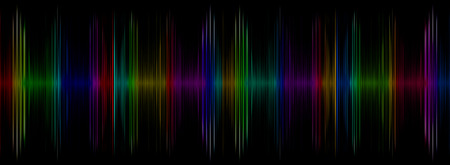 Abstract multicolored sound equalizer taken closeup as background.Digitally generated image. photo