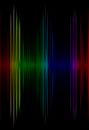 Multicolored sound equalizer as abstract  background.Digitally generated image. Stock Photo