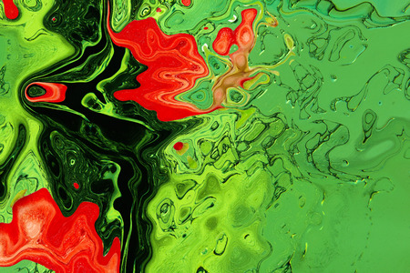 virtual reality simulator: Green and red texture as abstract background.Digitally generated image.