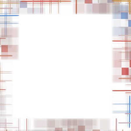 virtual reality simulator: White abstract background with checkered border frame.Digitally generated image.
