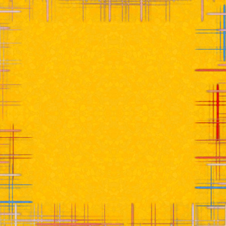 virtual reality simulator: Yellow abstract background with checkered frame.Digitally generated image.