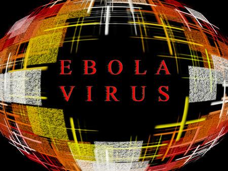 epidemic: Abstract multicolored globe shape on black background with text.Ebola Virus Epidemic concept.Digitally generated image.