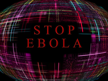 Multicolored abstract globe shape with text.Ebola Virus Epidemic concept.Digitally generated image. photo