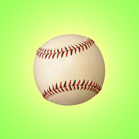 lighting background: Baseball on green background with lighting effect.