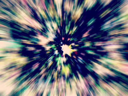 digitally generated image: Multicolored stars prospective as abstract background. Digitally generated image. Stock Photo