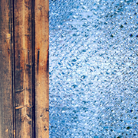 azure: Azure drips and wooden timber as abstract background.Digitally generated image.