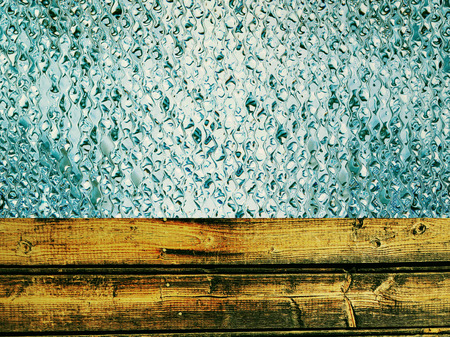 toned: Toned wooden timber and azure drips as abstract background.Digitally generated image.
