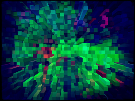 square shape: Multicolored grunge square shape geometric background. Digitally generated image. Stock Photo