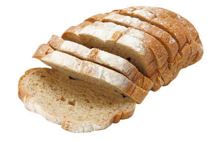 appetizing: Appetizing sliced bread isolated on white background.