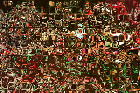 square shape: Multicolored square shape pattern as abstract background.Digitally generated image. Stock Photo