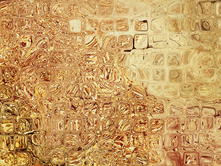 virtual reality simulator: Brown and beige abstract cube shape pattern as background.Digitally generated image.