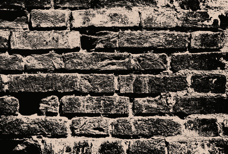brick texture: Monochrome grunge brick wall as abstract background.Digitally generated image.