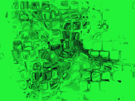 virtual reality simulator: Green cube shape pattern as abstract background. Digitally generated image.