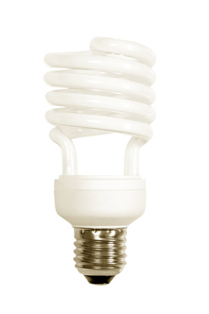 socle: Energy save lamp isolated on white background. Stock Photo