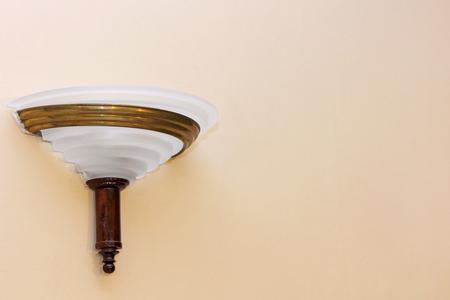 wall light: Retro style wall light fixture taken closeup. Stock Photo