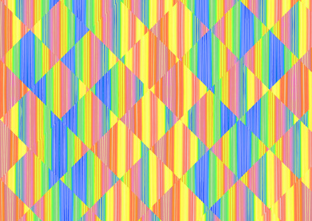 digitally generated image: Multicolored abstract striped and square shape background. Digitally generated image.